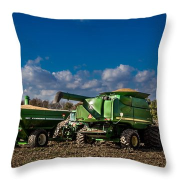 John Deere Combine 9770 Throw Pillow