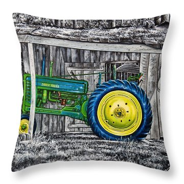 John Deere Green Throw Pillow