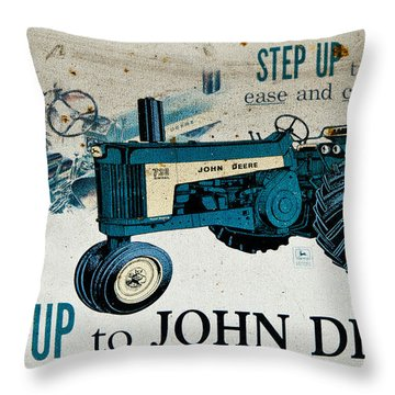 John Deere Tractor Sign Throw Pillow