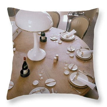 John Dickinson's Dining Table Throw Pillow