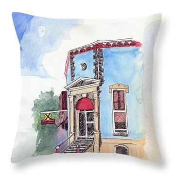 John Dillinger Was Here Throw Pillow by Katherine Miller