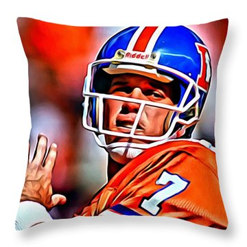 John Elway Throw Pillow