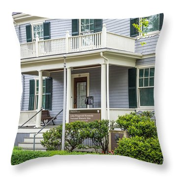 John Fitzgerald Kennedy Birthplace Throw Pillow by Susan Cole Kelly