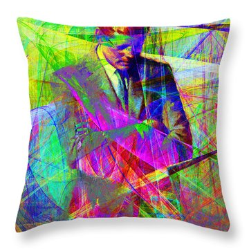 John Fitzgerald Kennedy Jfk In Abstract 20130610 Throw Pillow