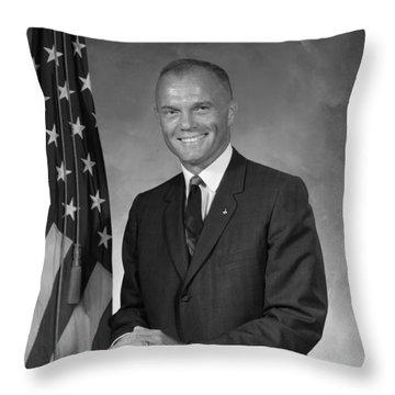 John Glenn Throw Pillow by War Is Hell Store
