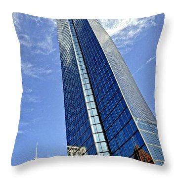 John Hancock Tower Throw Pillow