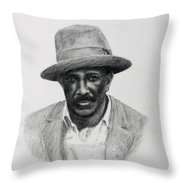 John Hearn Throw Pillow by Daniel Reed