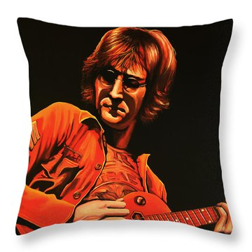 John Lennon Painting Throw Pillow