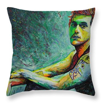 John Mayer Throw Pillow by Joshua Morton