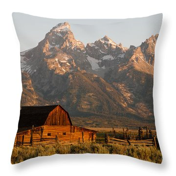 John Moulton Barn Throw Pillow by Clarence Holmes