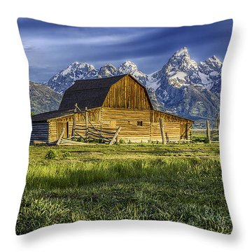 Throw Pillow featuring the photograph John Moulton Barn by Bitter Buffalo Photography