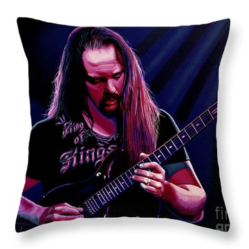 John Petrucci Painting Throw Pillow by Paul Meijering