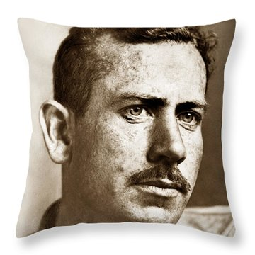 John Steinbeck American Author Circa 1938 Throw Pillow by California Views Mr Pat Hathaway Archives
