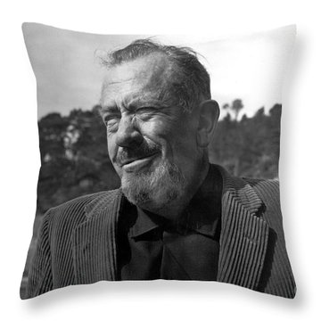 John Steinbeck Pebble Beach, Monterey, California 1960 Throw Pillow