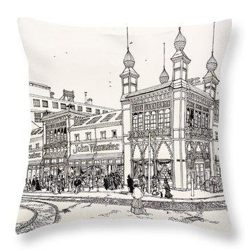 John Wanamaker's Grand Depot Throw Pillow by Ira Shander