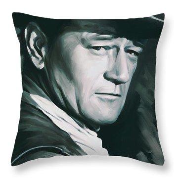 John Wayne Artwork Throw Pillow