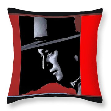 Throw Pillow featuring the photograph John Wayne As The Ringo Kid Stagecoach 1939-2013 by David Lee Guss