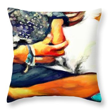 Johnelle Saving The World One Child At A Time Throw Pillow by Vannetta Ferguson