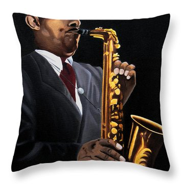 Johnny And The Sax Throw Pillow