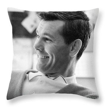 Johnny Carson Throw Pillows