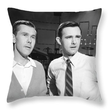 Johnny Carson Throw Pillows