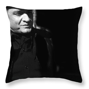 Throw Pillow featuring the photograph Johnny Cash Film Noir Homage Old Tucson Arizona 1971 by David Lee Guss