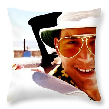 Johnny Depp @ Fear And Loathing In Las Vegas Throw Pillow