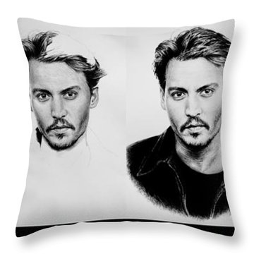 Johnny Depp 4 Throw Pillow by Andrew Read