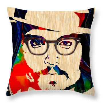 Johnny Depp Collection Throw Pillow