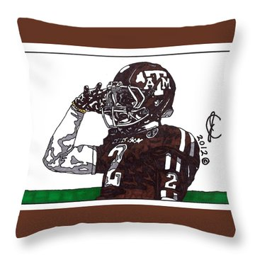 Johnny Manziel The Salute Throw Pillow
