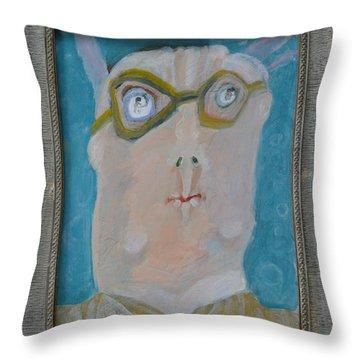 John's Dad Seeing Babies Born - Framed Throw Pillow by Nancy Mauerman