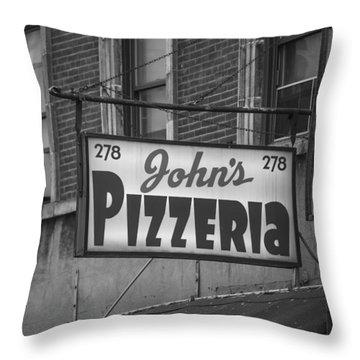 John's Pizzeria In Nyc Throw Pillow