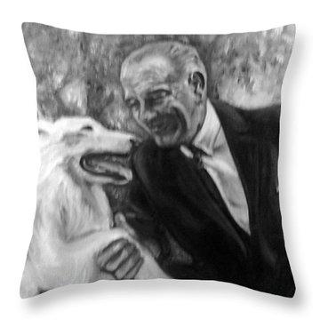 Johnson And Blanco Throw Pillow