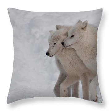 Throw Pillow featuring the photograph Joined At The Hip by Bianca Nadeau