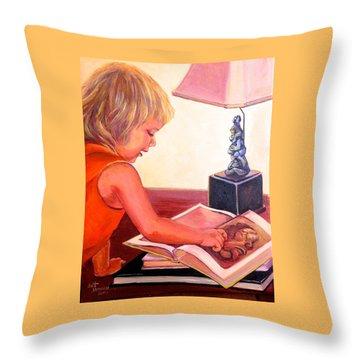 Jojo And Renoir Throw Pillow