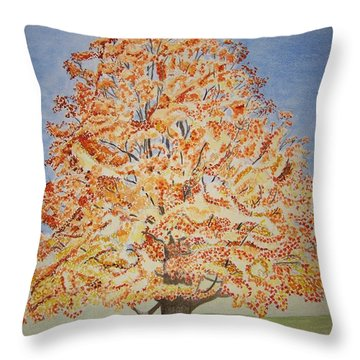 Jolanda's Maple Tree Throw Pillow