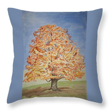Jolanda's Maple Tree Throw Pillow
