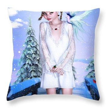Jolly Holidays Throw Pillow