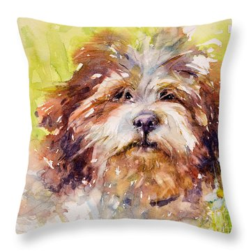 Jolly June Throw Pillow