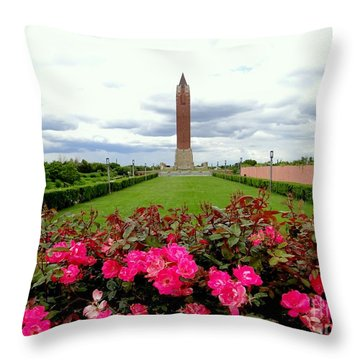 Jones Beach Water Tower Throw Pillow by Ed Weidman