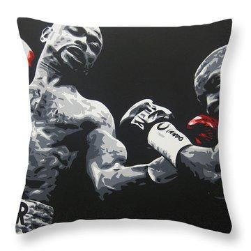 Jones Jr Vs Trinidad Throw Pillow