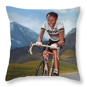 Joop Zoetemelk Throw Pillow