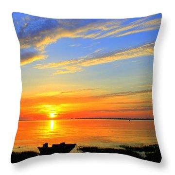 Joppa Flats Sunrise Throw Pillow