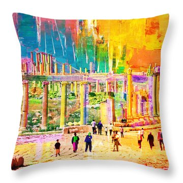 Jordan 01 Throw Pillow by Catf
