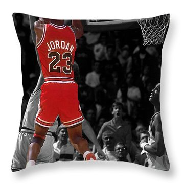 Jordan Buzzer Beater Throw Pillow