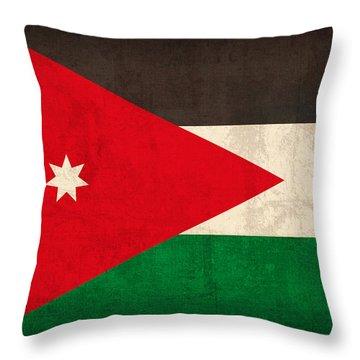 Jordan Flag Vintage Distressed Finish Throw Pillow by Design Turnpike
