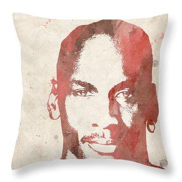 Jordan Throw Pillow by Paulette B Wright