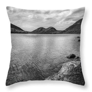 Jordan Pond Acadia National Park Maine. Throw Pillow by Diane Diederich