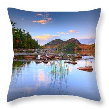 Jordan Pond In Fall Throw Pillow