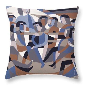 Jordan Quaker Meeting 2 Throw Pillow by Ron Waddams